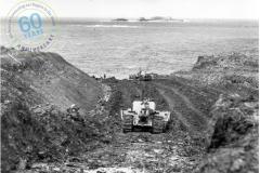 Cape Grant Quarry site - stripping overburden 2 November 1953