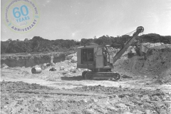 Stripping limestone for access road 3 November 1953