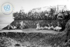 Blasting Cape Grant Quarry 14 November 1957