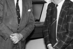 Theo Jarrett (L) and Len Knight (Finance Officer) - farewell