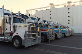 Transports ready for loading