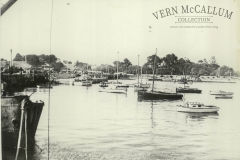 Fishing boats in the harbour at Portland.  Photo from the Peter Burch Collection.